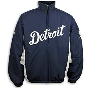2014 Detroit Tigers Authentic Double Climate Home Jacket by Majestic Athletic