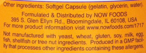 调理月经/更年期综合症/脱发问题/视力问题,Now Foods 黑加仑油 1000mg*100粒图片