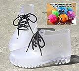 (バニラクリーム)Vanilla cream クリア レインブーツ 透明 長靴 オリジナルストラップ同梱 (24cm)