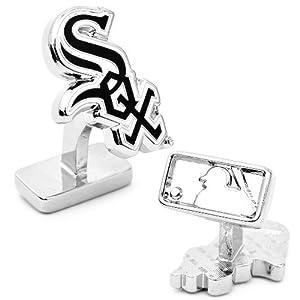 MLB Palladium Plated Cufflinks MLB Team: Chicago White Sox by Cufflinks Inc.