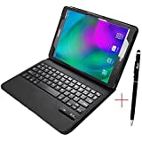 Samsung Galaxy Tab S2 9.7 Keyboard case, KuGi Ultra-thin Detachable Bluetooth Keyboard Stand Portfolio Case / Cover+ Free stylus for Samsung Galaxy Tab S2 9.7 tablet. (For Tab S2 9.7, Black)