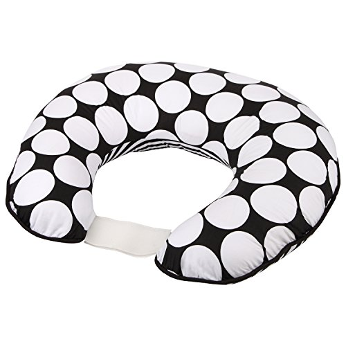 Bacati - Dots/pin Stripes Black/white Nursing Pillow - 1