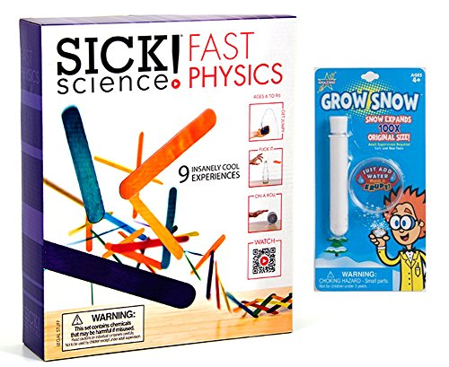 Be Amazing Sick Science Fast Physics Science Kit with Grow Snow Blister Card