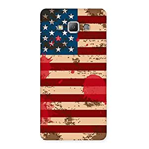 Grunge USA Flag Print Back Case Cover for Galaxy A7