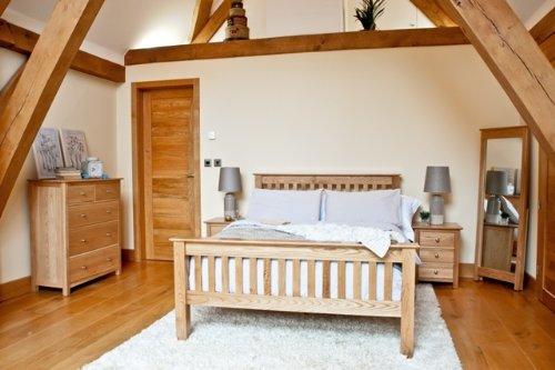 Get Cheap SoSomerset Oak Furniture bedroom furniture double ...