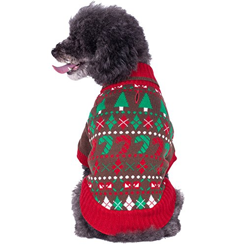 Blueberry Pet Ugly Christmas Santa Claus Holiday Season Shawl Collar Dog Sweater