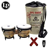 Latin Percussion LP608 LP Rumba Bongo Drum with LP Rumba Shaker, LP Claves & LP Rumba Gigbag