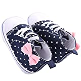 waylongplus Infant Lienzo suave suela antideslizante infantil Prewalker Cuna zapatos Love Impresión Sneaker blanco roto White Love Print Talla:11 (3-6 Months)