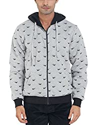 Parx Men's Cotton Blend Sweatshirt (8907249754768_XMKF02535-G2_44_Light Grey)