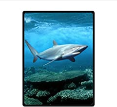Custom Great White Shark Super Soft Fleece Blanket 58quot X 80quot Large