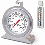 CDN POT750X Pro Accurate High Heat Oven Thermometer with Customized Economy Refrigerator/Freezer Thermometer Bundled Set