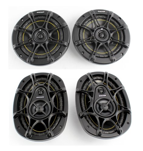 "2) Kicker Ds60 6.5"" 200 Watt 2-Way +2) Kicker Ds693 6X9"" 280W 3-Way Car Speakers"
