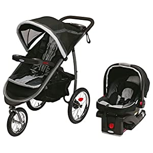 2015 Graco Fastaction Fold Jogger Click Connect Travel System, Gotham