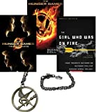 img - for The Hunger Games Movie Pack: The Hunger Games, The Hunger Games Movie Tribute Guide, The Girl Who Was on Fire: Your Favorite Authors on Suzanne Collins' Hunger Games Trilogy; PLUS Bonus Mockingjay Necklace (The Hunger Games Series by Suzanne Collins, 3 Books and 1 Necklace) book / textbook / text book