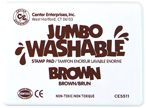 Center Enterprise CE5511 Jumbo Washable Stamp Pad, Brown