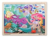 Melissa & Doug Mermaid Fantasea Wooden Jigsaw Puzzle (48 Pieces)