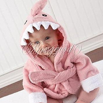 peignoir sortie de bain animaux animaux pour b b robe de de chambre requin rose b b s. Black Bedroom Furniture Sets. Home Design Ideas
