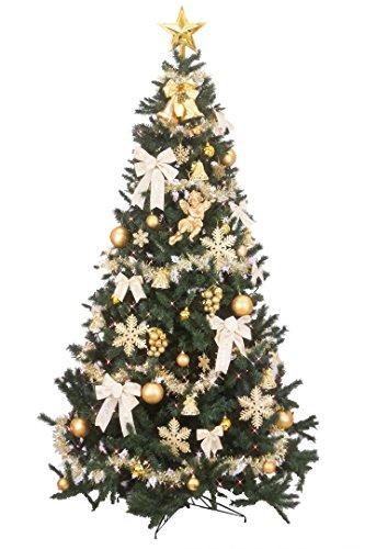 クリスマス屋 クリスマスツリー 3m セットゴールド&アイボリー