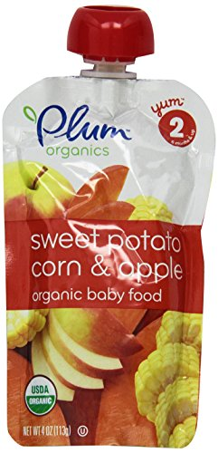 Plum Organics Baby Second Blends, Sweet Potato, Corn and Apple, 4 Ounce Pouches (Pack of 12) (Plum Salt compare prices)