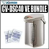 Zojirushi CV-DSC40 Ve Hybrid Water Boiler and Warmer Stainless Steel W Zojirushi ADC-05 Pot Cleaner - Zojirushi AZOJCVDSC40K1