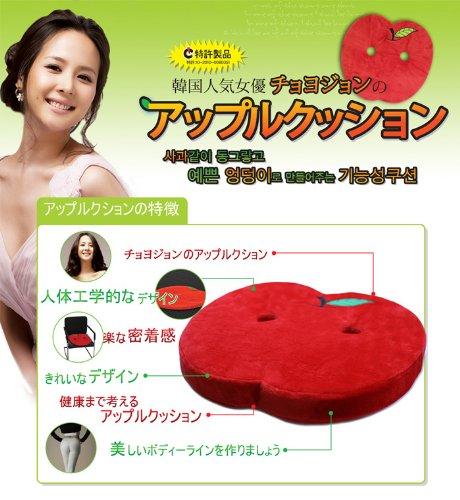 【韓国では有名女優もハマってる!】チョ・ヨジョンのアップルクッション【12月上旬日本上陸!】