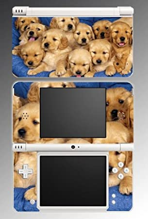 Puppy Golden Retriever Dog Game Vinyl Decal Skin Protector Cover #9 for Nintendo DSi XL