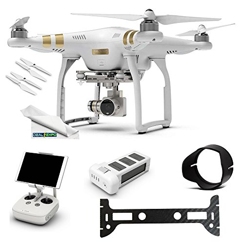 DJI Phantom 3 Professional (Pro) 4K Video Camera + (1) DJI Phantom 3 Intelligent Flight Battery + Expo-Elements Accessory Bundle