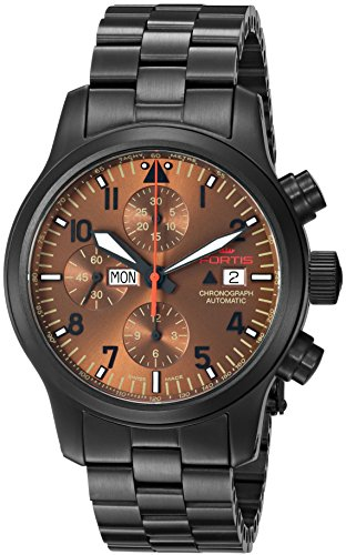 Fortis-Colors-Mens-6561898-MPVD-Aeromaster-Dusk-Chronograph-Analog-Display-Automatic-Self-Wind-Black-Watch