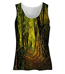 Snoogg Forest Way Womens Tunic Casual Beach Fitness Vests Tank Tops Sleeveless T shirts