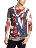 Faux Real Tees Men's Long Zombie with Mesh Sleeves (UK 52-54)