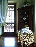 Beistelltisch/Nachttisch Cubo Plexiglas/-in Stahl hell verspiegelt/außen Garten Wohnzimmer Schlafzimmer -