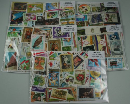 THEMATIC Stamps Collection. 2500 Different World Stamps