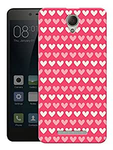 "Hearts On Red Printed Designer Mobile Back Cover For ""Xiaomi Redmi 3S"" By Humor Gang (3D, Matte Finish, Premium Quality, Protective Snap On Slim Hard Phone Case, Multi Color)"