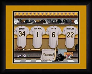 MLB Personalized Locker Room Print Black Frame Customized San Diego Padres by You
