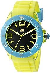 40Nine Unisex 40NINE02/YELLOW Large 45mm Analog Display Japanese Quartz Yellow Watch