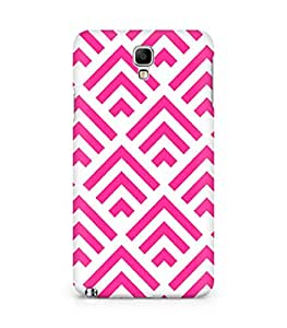 Amez designer printed 3d premium high quality back case cover for Samsung Galaxy Note 3 Neo (pink arrow pattern )