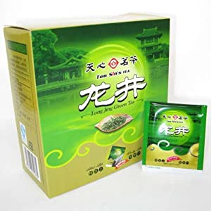 Long Jing Dragon Well Green Tea Bag Cha 50pcs