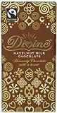 Divine Fairtrade Hazelnut Milk Chocolates 100 g (Pack of 5)