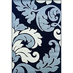 Contemporary Kids Rug in Black and Grey (7 ft. 7 in. L x 5 ft. W (19 lbs.))