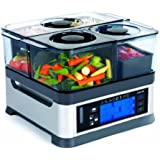 Viante CUC-30ST Intellisteam Counter Top Food Steamer with 3 Separate Compartments