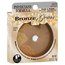 Physicians Formula Bronze Gems Bronzer/Highlighter & Eye Shadow, Matte & Bright, Light Bronzer 2672, 0.3 oz (9 g)