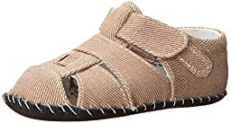 pediped Harvey Originals Fisherman Sandal (Infant/Toddler),Ginger Nut,X-Small (0-6 months)