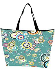 Snoogg Abstract Circles Designer Waterproof Bag Made Of High Strength Nylon