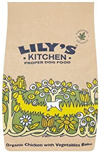 10 X Lily's Kitchen Organic Chicken and Vegetable Bake Dry Food for Dogs 1Kg from Lily's Kitchen