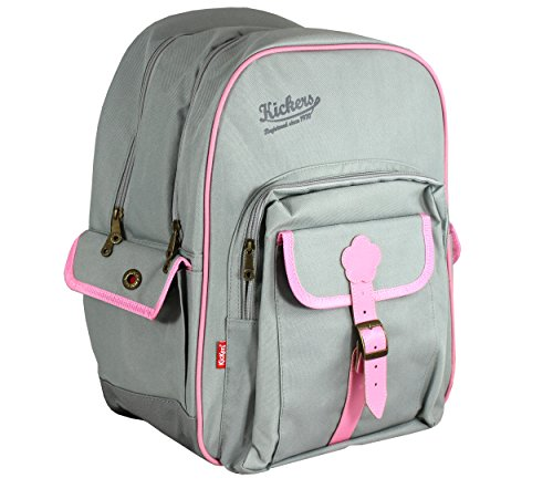 kickers-children-school-backpack-360-l-gris-clair-rose-doux-grey-501260-25