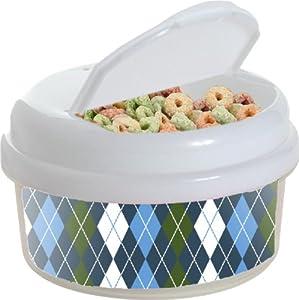 12 oz Argyle Snack Container Color: Blue