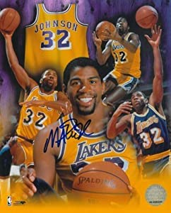 Magic Johnson Autographed Hand Signed Los Angeles Lakers 8X10 Photo Collage