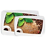 Cello Printed Melamine Serving Tray In Home And Kitchen, Pack Of 2 (Small,Medium)
