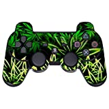 GameXcel ® Sony PS3 Leather Texture Controller Skin - Custom Playstation 3 Remote Vinyl Sticker - Play Station 3 Joystick Decal - Weeds Black [ Controller Not Included ]