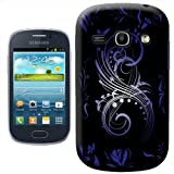 Fancy A Snuggle Contemporary Modern Art Swirls Design Hard Case Clip On Back Cover for Samsung Galaxy Fame S6810
